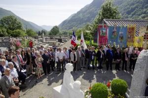 Cérémonie de commémoration au cimetière de Vicdessos